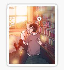 Library Kiss Sticker