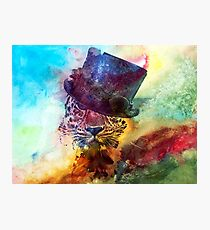 Steampunk Leopard in a Top hat Photographic Print