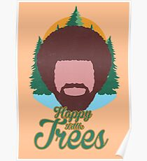 Happy Little Trees Poster