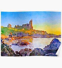 Dunure Castle Scotland Poster