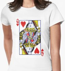 Queen of Hearts Playing Card T-Shirt