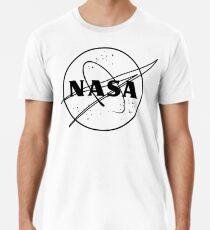 NASA logo black and white Premium T-Shirt