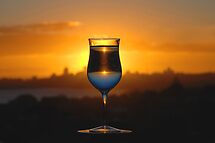 Glass I, or Sunset Cocktail by andreisky