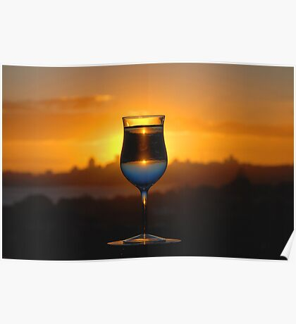 Glass I, or Sunset Cocktail Poster