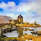 Eilean Donan Castle Scotland by David Alexander Elder