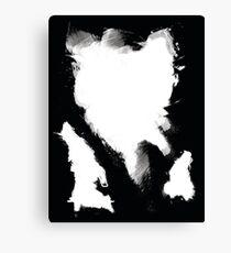 Black n' White / Brush Canvas Print