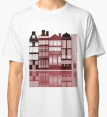 Amsterdam illustration in red  Classic T-Shirt