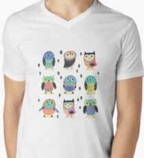 Fun owls in pastel colors T-Shirt