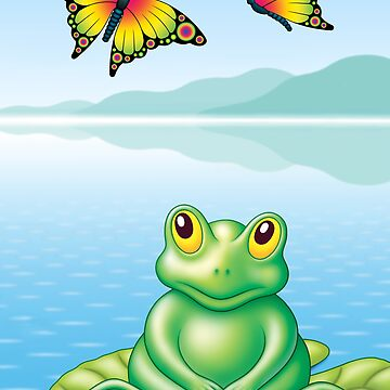 FROG  AND  BUTTERFLIES by mistero