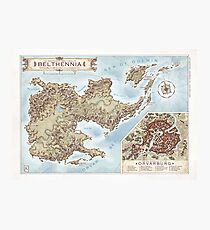 Belthennia - a map of its Independent Territories Photographic Print