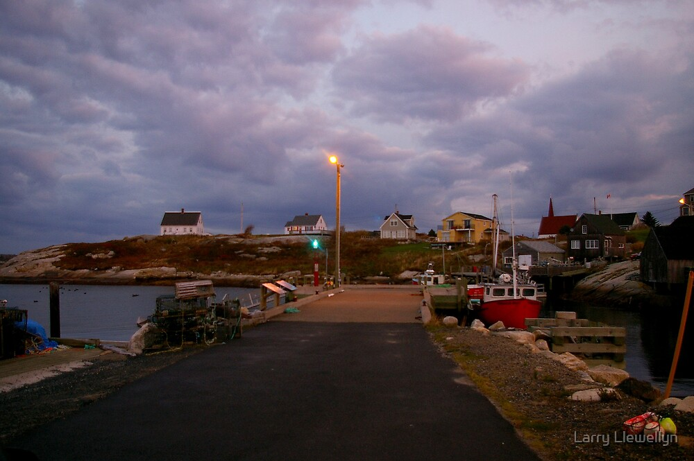 A Sleeping Fishing Village...... by Larry Llewellyn