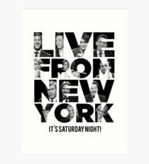 Live From New York, It's Saturday Night - Saturday Night Live Art Print