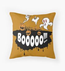 Booo !!! Throw Pillow