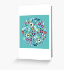 Baby Blue Floral Greeting Card