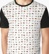 Cat Pattern Graphic T-Shirt
