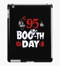 Funny 95th Boo Ghost Scary Vintage Halloween Birthday iPad Case/Skin