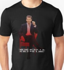 Pierce Brosnan - Celebrity (Oil Paint Art) Modern Style T-Shirt
