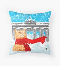 Christmas Cat (Tabby) Throw Pillow