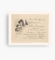 Business Card publisher and prenthandelaar Charles Soccard Paris, anonymous, c. 1900 Canvas Print