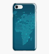 technology map art iPhone Case/Skin