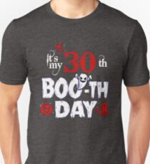 Funny 30th Boo Ghost Scary Vintage Halloween Birthday T-Shirt