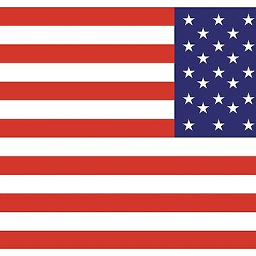 American Flag, ARMY, REVERSE FLAG, Stars & Stripes, Pure & Simple, America, US, USA by TOMSREDBUBBLE