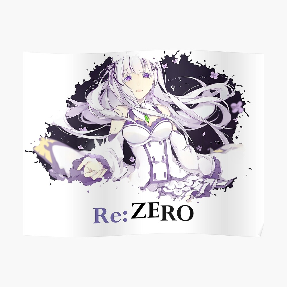 Rezero Emilia Decal Custom Sticker