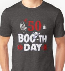 Funny 50th Boo Ghost Scary Vintage Halloween Birthday T-Shirt