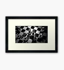 Chess Board Game Framed Print