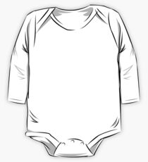 Musky Outfitters: White Long Sleeve Baby One-Piece