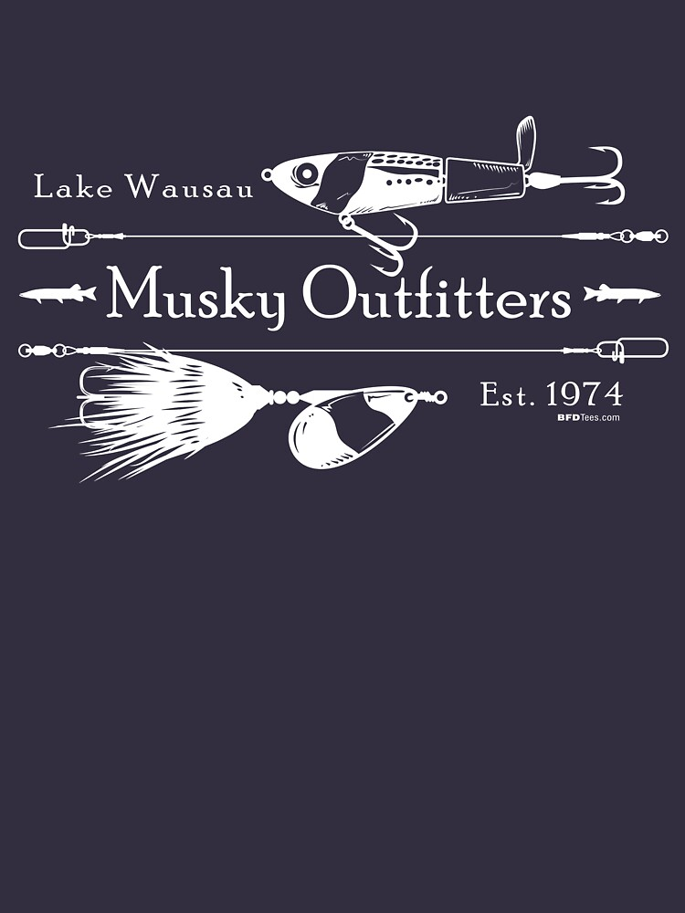 Musky Outfitters: White by bigfatdesigns
