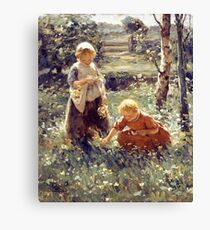 Children In a Field by Evert Pieters Canvas Print
