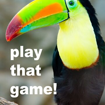 TOUCAN PLAY THAT GAME by clayjars