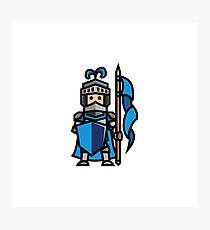 Blue Knight Photographic Print