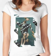 collage retro vintage Women's Fitted Scoop T-Shirt