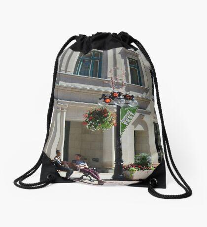 Respite on Sparks Drawstring Bag