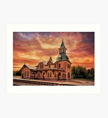 Point Of Rocks Train Station Art Print