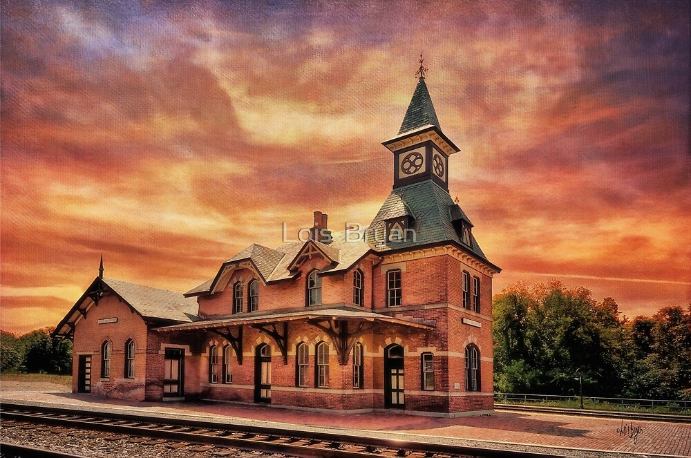 Point Of Rocks Train Station by Lois  Bryan