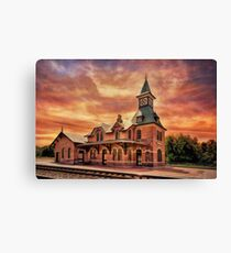 Point Of Rocks Train Station Canvas Print