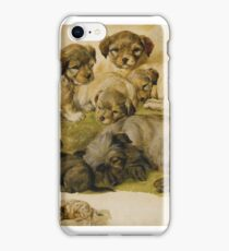 Circle of Sir Edwin Henry Landseer, R.A. STUDY OF A TERRIER AND PUPPIES iPhone Case/Skin