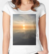Great Salt Lake Sunset Women's Fitted Scoop T-Shirt
