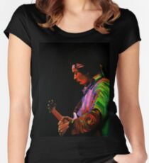 Jimi Hendrix Painting 4 Women's Fitted Scoop T-Shirt