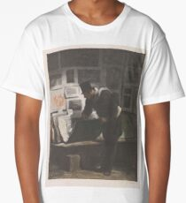 Collector of prints, Alfred Prunaire, after Honoré Daumier, c. 1860 - c. 1902 Long T-Shirt