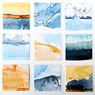 Abstract Watercolour Seascapes & Landscapes Mosaic by Evelyn Flint