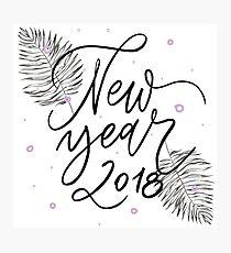 Happy New Year 2018 Photographic Print