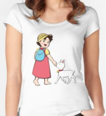 Heidi and litle goat Women's Fitted Scoop T-Shirt