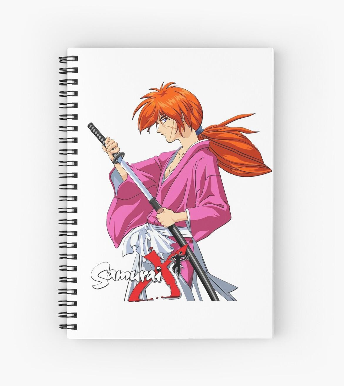 Himura Kenshin Battousai Samurai X Spiral Notebooks By Gsunrise Sticker