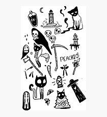 Dark Doodle Club Photographic Print