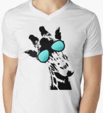 Too cool for school Giraffe  Men's V-Neck T-Shirt