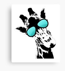 Too cool for school Giraffe  Canvas Print